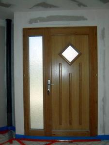 porte mixte bois/alu face intérieure