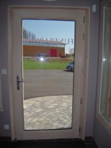 Porte mixte bois/alu côté intérieur
