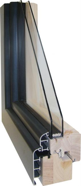 Fen tres mixtes bois et alu 83 ou 93 mm for Joint pour fenetre double vitrage