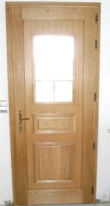 Porte mixte bois/alu vue intérieure